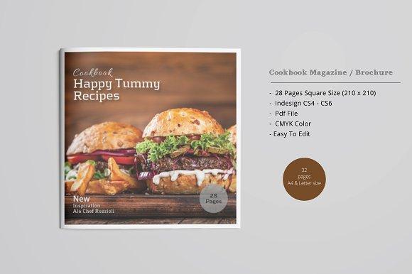 Square Cookbook Magazine / Brochure ~ Magazine Templates ...