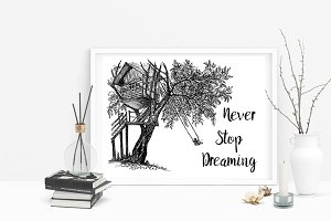 Never Stop Dreaming Quote. Ink House