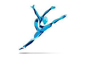Stylized gymnast