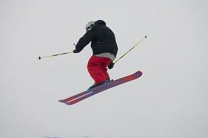 Skier in flight