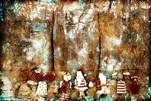 Christmas Santa grunge background