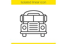 School bus linear icon. Vector