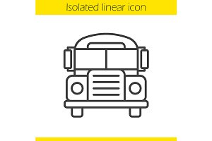 School bus linear icon. Vector