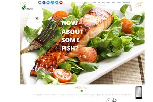 Restaurant Psd Web Template