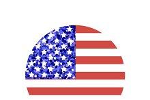 American glitter flag, Veterans day