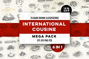 Mega pack. International cuisine