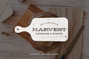 Harvest Cutting Board Logo