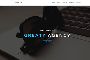 GREATY - One Page WordPress Theme