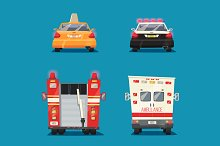 Collection of cartoon cars