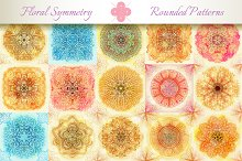 15 Floral Symmetry Patterns. Set #3