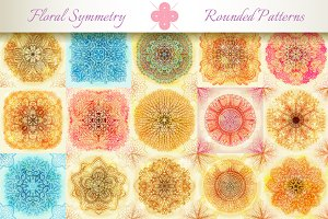 15 Floral Symmetry Patterns. Set #3
