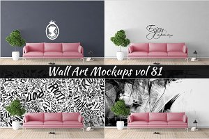 Wall Mockup - Sticker Mockup Vol 81