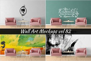 Wall Mockup - Sticker Mockup Vol 82