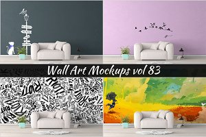 Wall Mockup - Sticker Mockup Vol 83