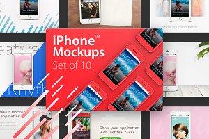 10 iPhone™ Mockups