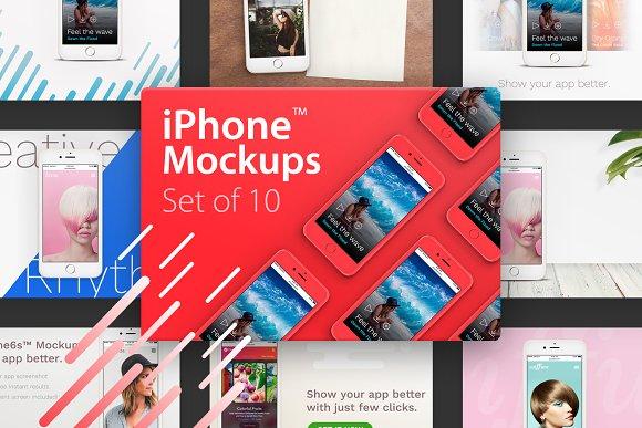 Free 10 iPhone™ Mockups