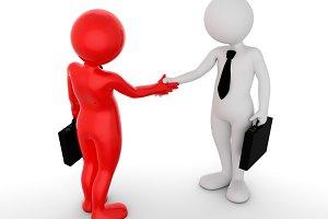 Business handshake. Ton man shaking hands. Deal, agreement, partner concept