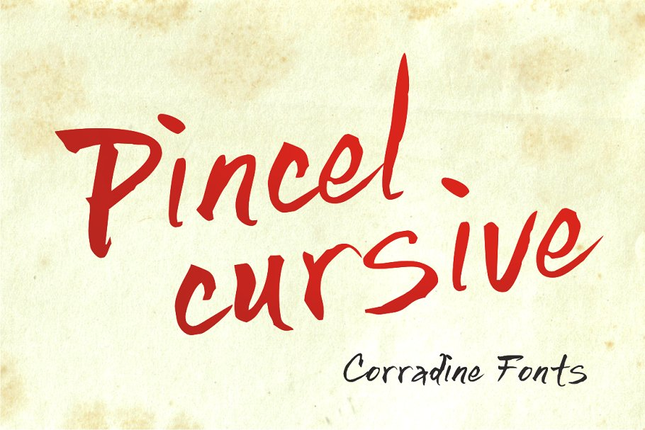 Best Pincel Cursive Vector