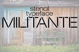 Militante Stencil Font