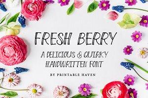 Fresh Berry Handwritten Font