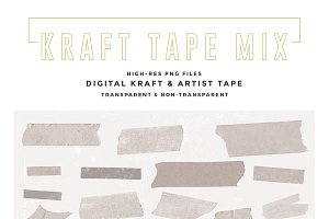 Kraft Paper & Masking Tape Mix