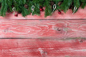 Rustic Red Wood for Christmas