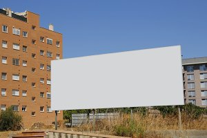 Blank ad billboard