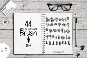 44 Trees brushes