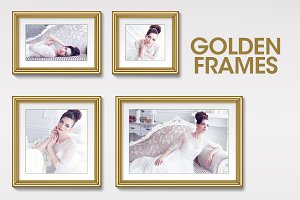 Golden Frames Set (8 frames)