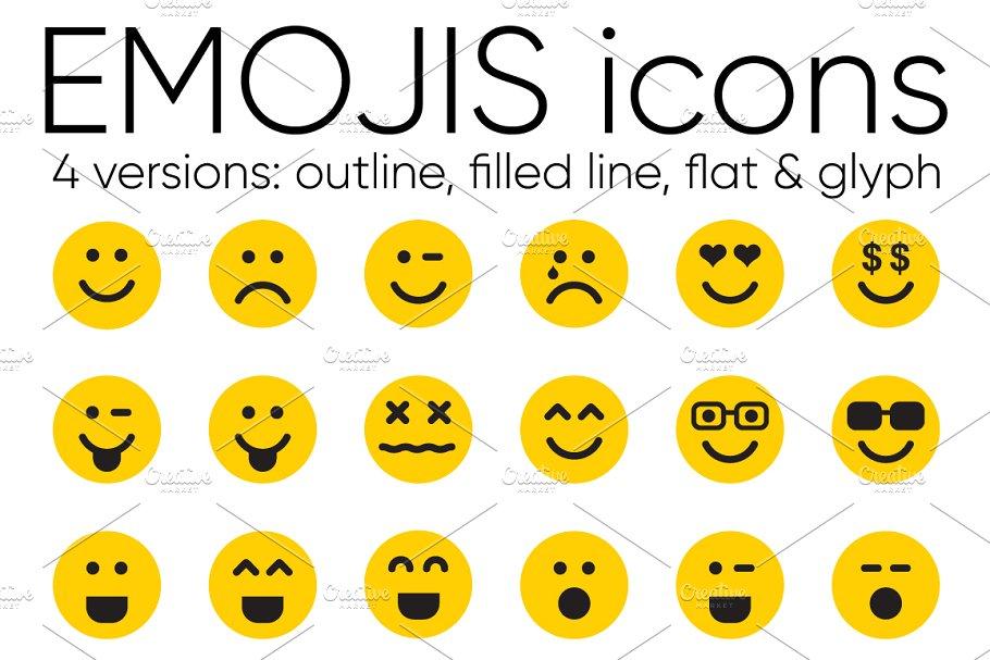 EMOJIS ~ Icons ~ Creative Market