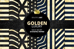 Golden Luxury Digital Papers