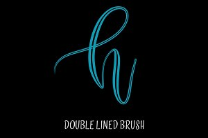 Double Lined Procreate Brush
