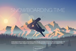 Snowboarding Time Banner