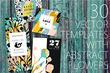 30 templates with abstract flowers.