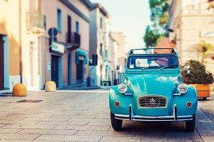 Vintage car on the street