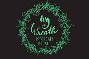 Ivy Wreath Procreate Brush