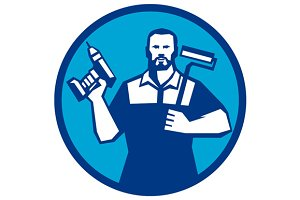 Bearded Handyman Cordless Drill