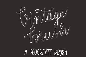 Vintage brush for Procreate app