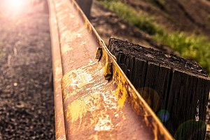 Rusted Guardrail