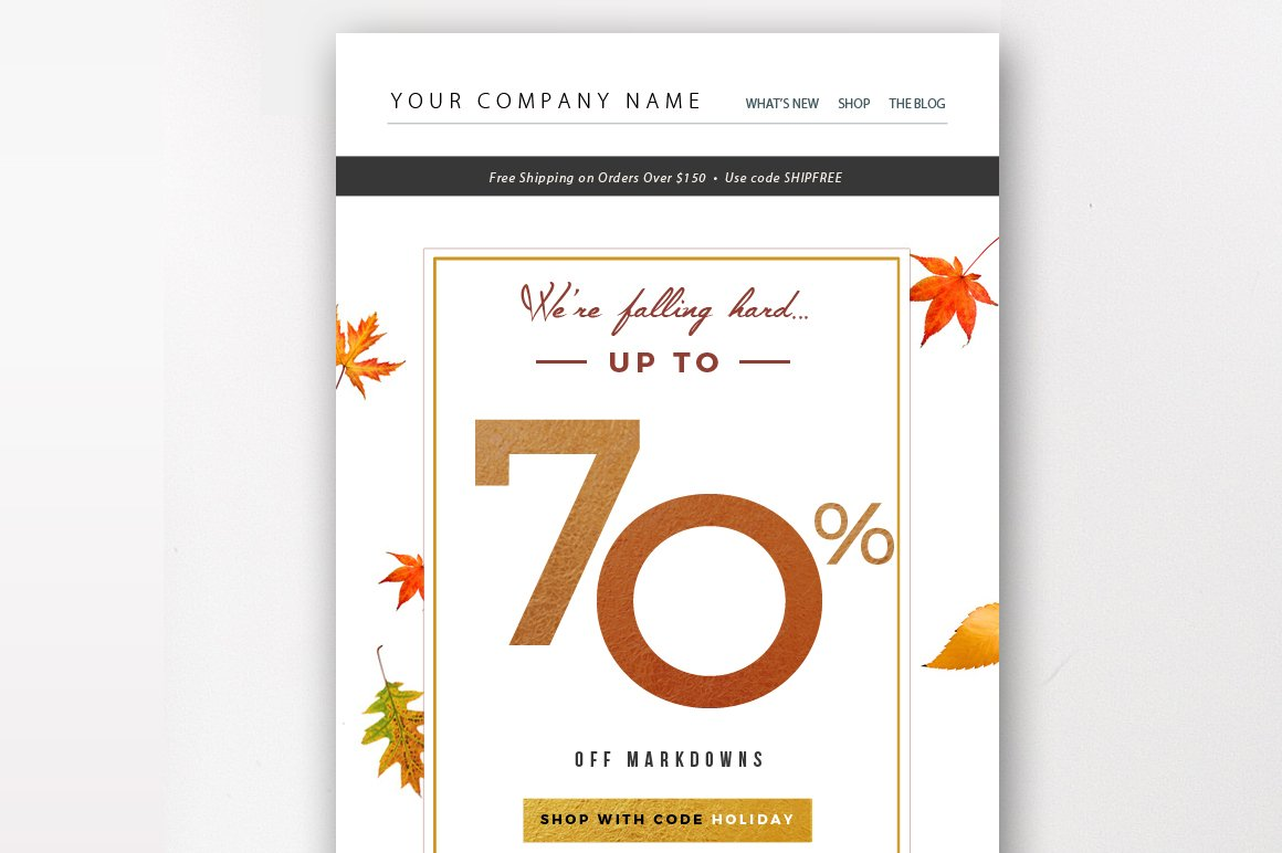 holiday sale email template email templates creative market