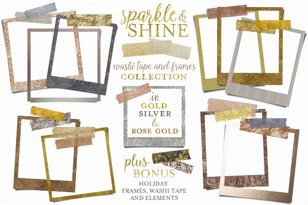 Glitter Washi Tape and Frames