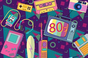 Eighties retro elements