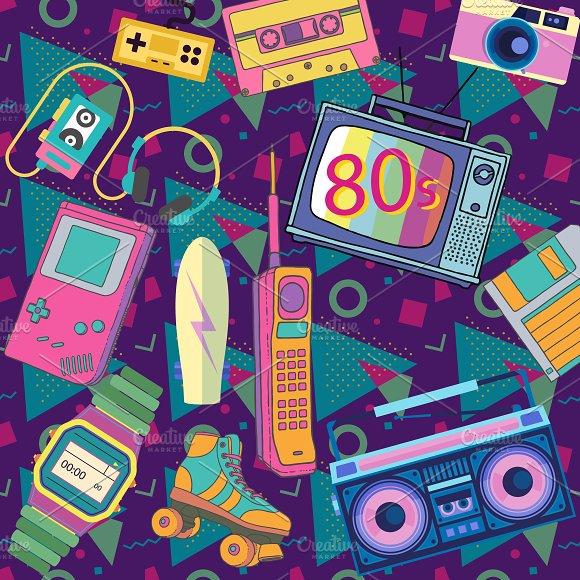 Eighties retro elements
