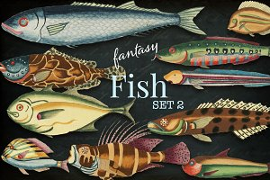 Beautiful Fantasy Fish Set 2