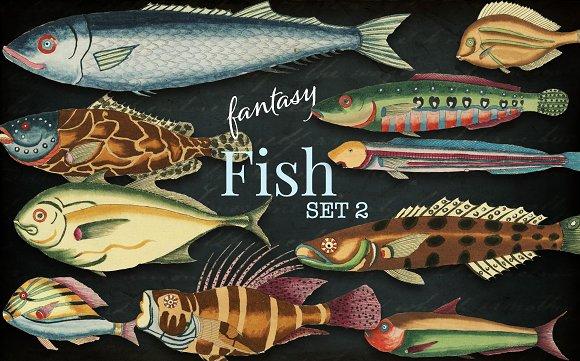 Beautiful Fantasy Fish Set 2