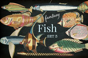 Beautiful Fantasy Fish Set 3