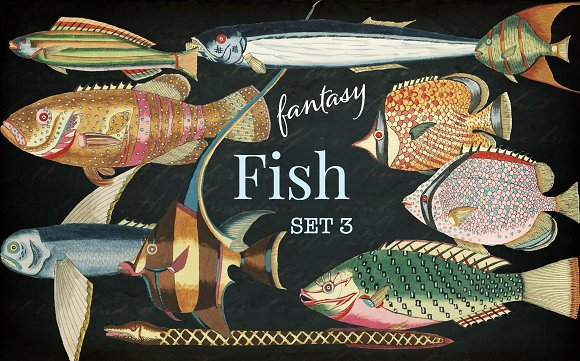 Beautiful Fantasy Fish Set 3