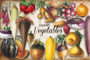 Vintage Vegetable Set 1