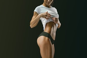 Young female muscular body