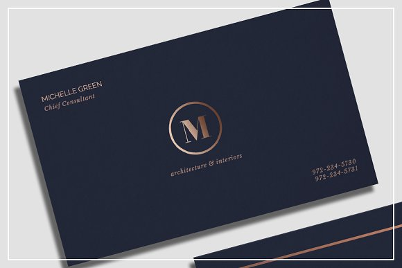 Navy blue metallic business card business card templates navy blue metallic business card business card templates creative market wajeb Choice Image